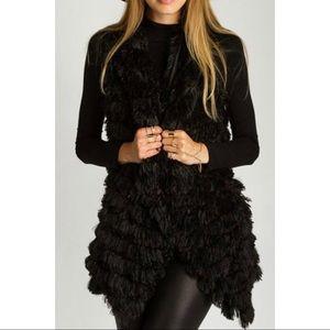 TCEC faux fur shag vest